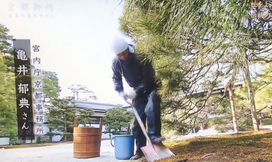 Special maintenance techniques used in Kyoto Gosho