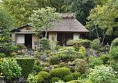 Toji-in temple Japanese garden in Kyoto