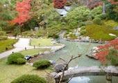 Shoren-in Japanese garden in Kyoto